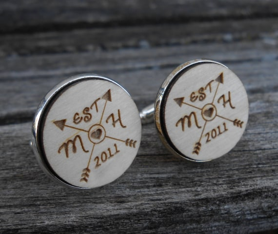 PERSONALIZED Wedding Cufflinks. Wedding, Groom Gift, Anniversary. Christmas, Custom Orders Welcome.