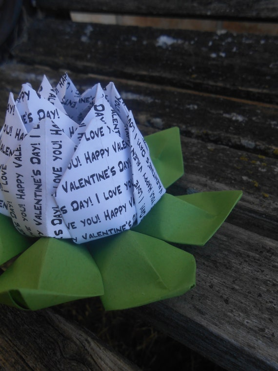 Valentine's Day Lotus. Unique Gift, Wedding Decoration, Favor, First Anniversary. Just Because. Under 10. CUSTOM Orders Welcome.