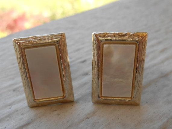 Vintage Mother of Pearl Cufflinks. Wedding, Men's Christmas Gift, Dad, Groomsmen