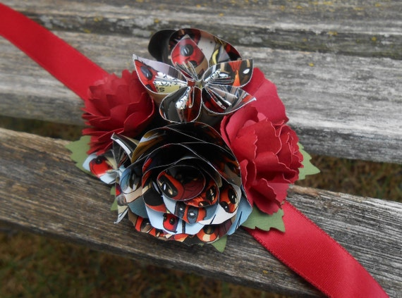 Custom COMIC Wrist Corsage. Your Choice Of Comics. Weddings, Bridesmaid, Flower Girl, Mother Of The Bride, Groom, Prom, Homecoming, Etc.