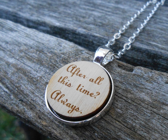 After All This Time? Always Necklace. Laser Engraved Wood. Wedding, Men, Women, Bridesmaid Gift. Custom Orders Welcome. Map
