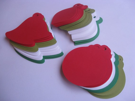 50 Ornament Tags. 3.5 inch. Choose Your COLORS. Gift Tag, Decoration, Holiday, DIY
