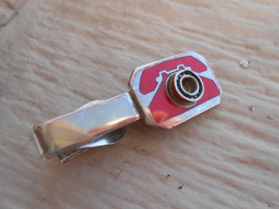 Vintage Phone Tie Clip. Christmas, Wedding, Men's, Groomsmen Gift, Dad.