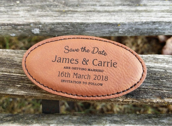 Custom Save The Date Magnets. Wedding Invitation. Laser Engraved, Unique, Rustic. Personalized Gift