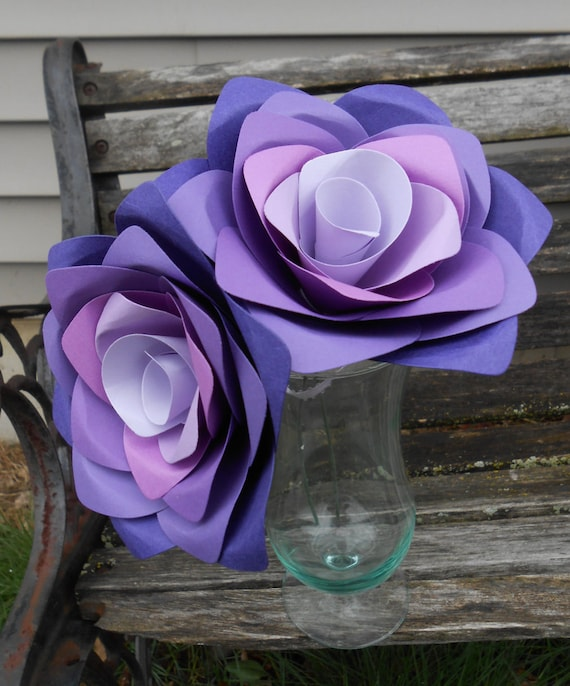 Purple Ombre Roses. Gift, 1st Anniversary, Wedding Favor, Valentine's Day, Mother's Day. Custom Orders Welcome.
