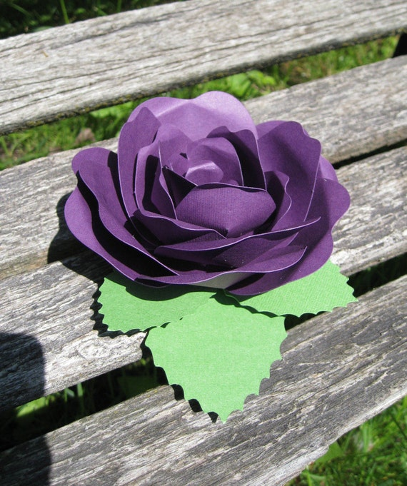Rose Place Card, Favor. CHOOSE YOUR COLORS. Any Amount Available.  Wedding Decor, Place Card, Escort Card, Favor