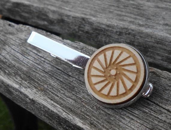 Bike Tire Tie Clip. Silver. Laser Engraved. Wedding, Men's, Groomsmen Gift, Dad. Custom Orders Welcome. Bike, Bicycle, Car, Truck