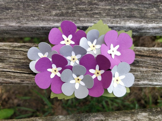 Forget Me Not Hair Clip. CHOOSE YOUR COLORS. Wedding Hair Accessories. Paper Flowers. Bride, Bridesmaid, Flower Girl, Tiara, Barrette