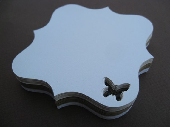 50 Butterfly Tags. 3.5 inch. CHOOSE YOUR COLORS. Weddings, Favor, Place Cards, Escort, Table.