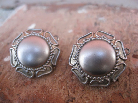 Vintage Silver Earrings. Clip On.  Wedding, Mom, Anniversary, Gift. CUSTOM ORDERS Welcome