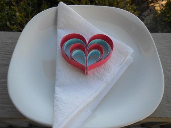 Wedding Favor Hearts. CHOOSE YOUR COLORS. Wedding Favor, Table Decoration. Unique, Rustic Favor.