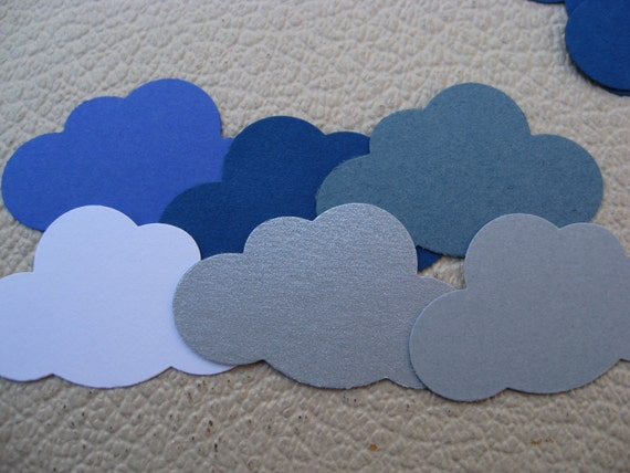 1000 Cloud Confetti. CHOOSE YOUR COLORS. Wedding, Shower, Birthday