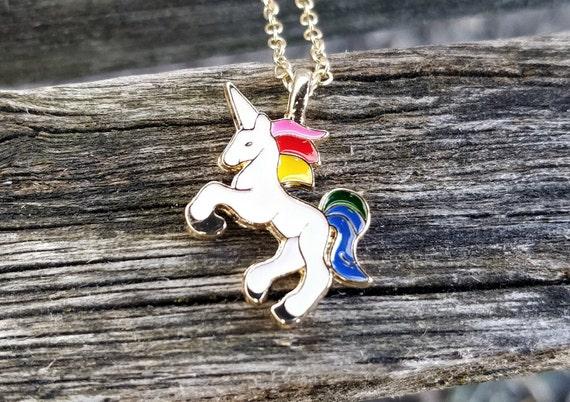 Rainbow Unicorn Necklace. Gift For Girls, Mom, Wedding, Bridesmaids, Anniversary, Birthday, Christmas. My Little Pony