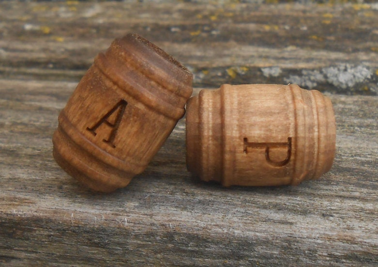 monogram beer barrel cufflinks wood wedding mens groomsmen gift dad anniversary his hers bride groom monogram letter initial