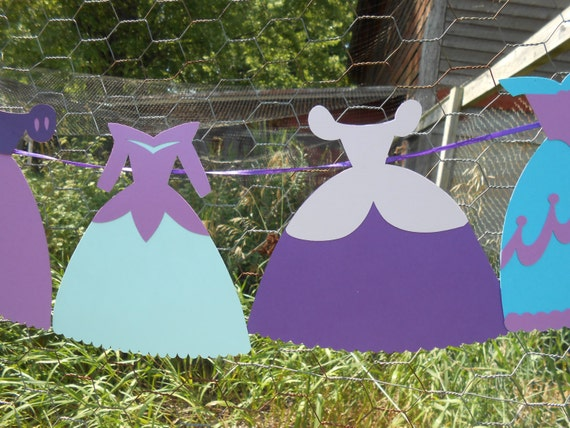 Dress Garland. CHOOSE YOUR COLORS. Bridal Shower, Wedding Decoration, Princess Party.  Custom Orders Welcome.