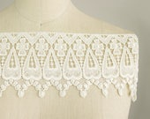 Mary Kate Ivory Venice Lace for Bridal Gowns Home Decor Luxurious Lace Trim Christening Victorian English Fringe Lace Trim