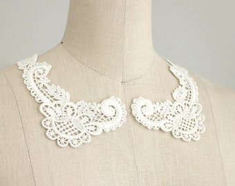 2 Pair Retro Sweet Cotton Lace Collar Necklace For Women Laides