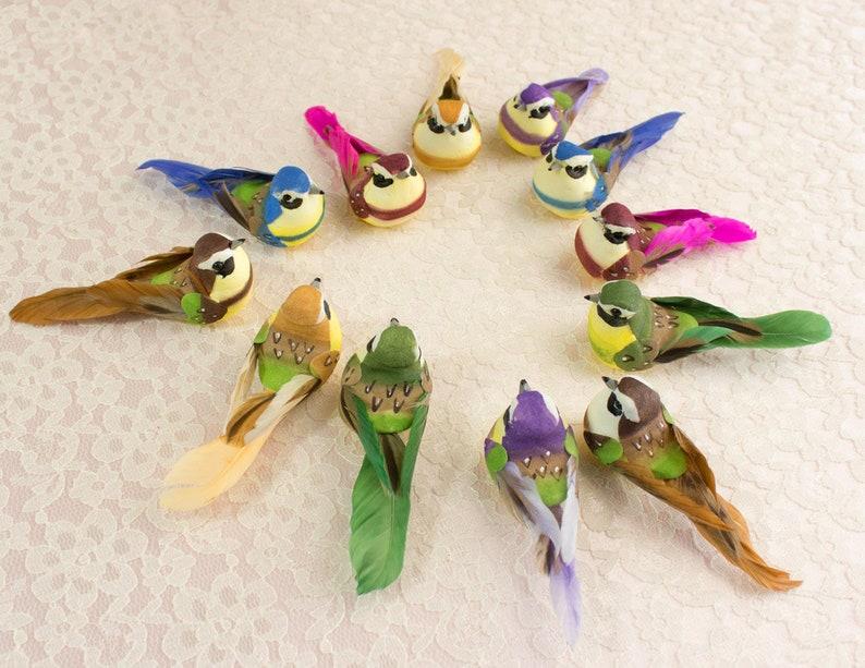 Wiosna Ptaki Jeden Tuzin Grzyb 12 Różne Kolorowe Sztuczne Etsy