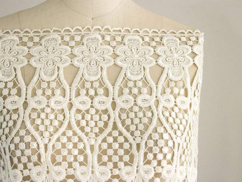 NEW ITEM! Marissa Extra Large Decadent Ivory Lace Venise Fringe Trim  Wedding Dress Lace  Bridal Lace