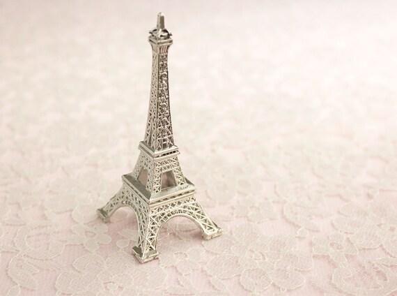 La Tour Eiffel Cake Topper / Silver Metal Eiffel Tower / Small | Etsy