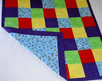 Butterfly blue brights cotton Baby Canadian Blanket ***FREE SHIPPING*** Made in USA