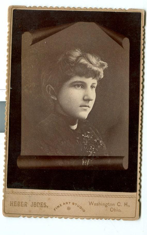 Carte De Visite Photo Montage Victorian Girl Sepia