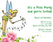 Tinkerbell Printable Birthday Party Invitation Template