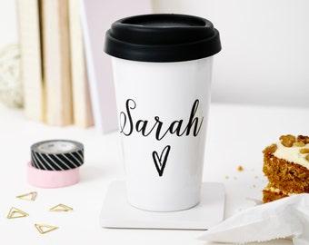 Personalised Name Travel Mug, Birthday gift, Personalised mug, Eco-friendly gifts, Tillyanna, Personalised gifts