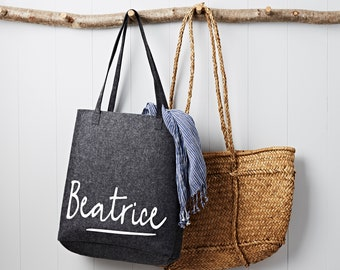 Personalised Grey Felt Shopping Bag c82ccbffc0e20