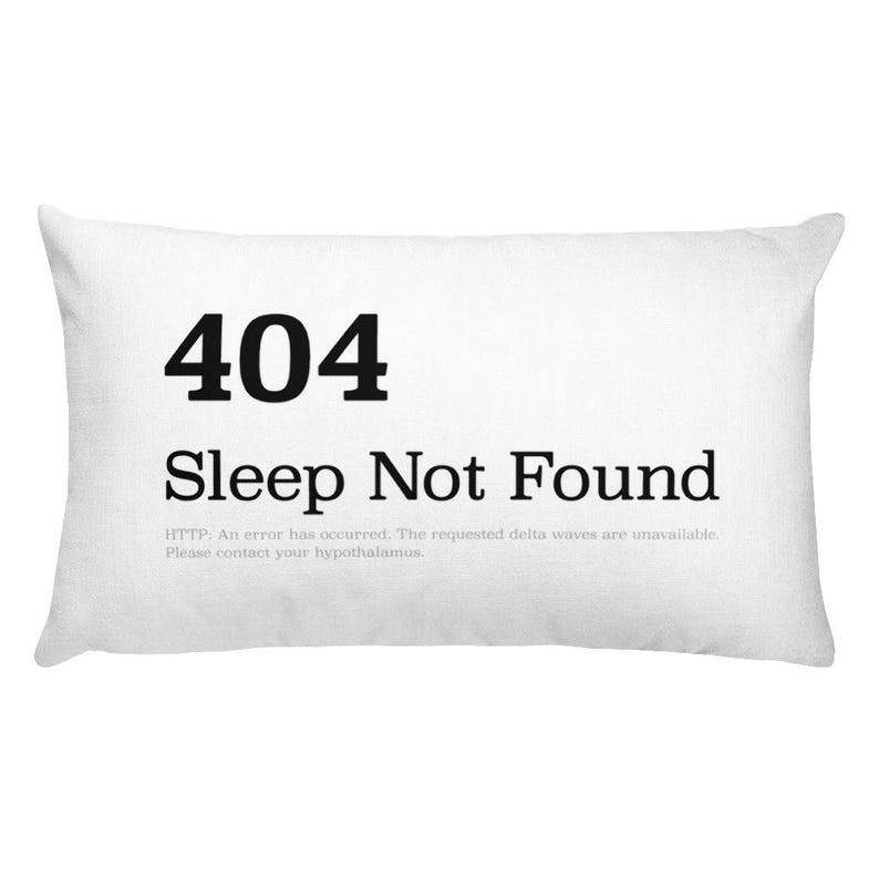 HTTP 404 Sleep Not Found  Throw Pillow image 0