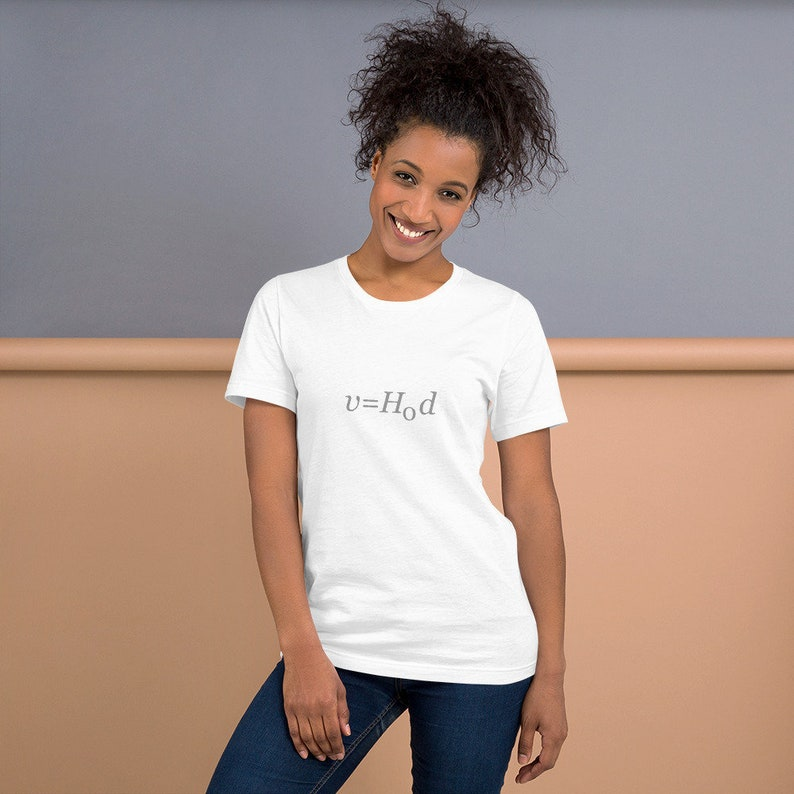 Hubble's Law  Astronomy / Science T-Shirt White