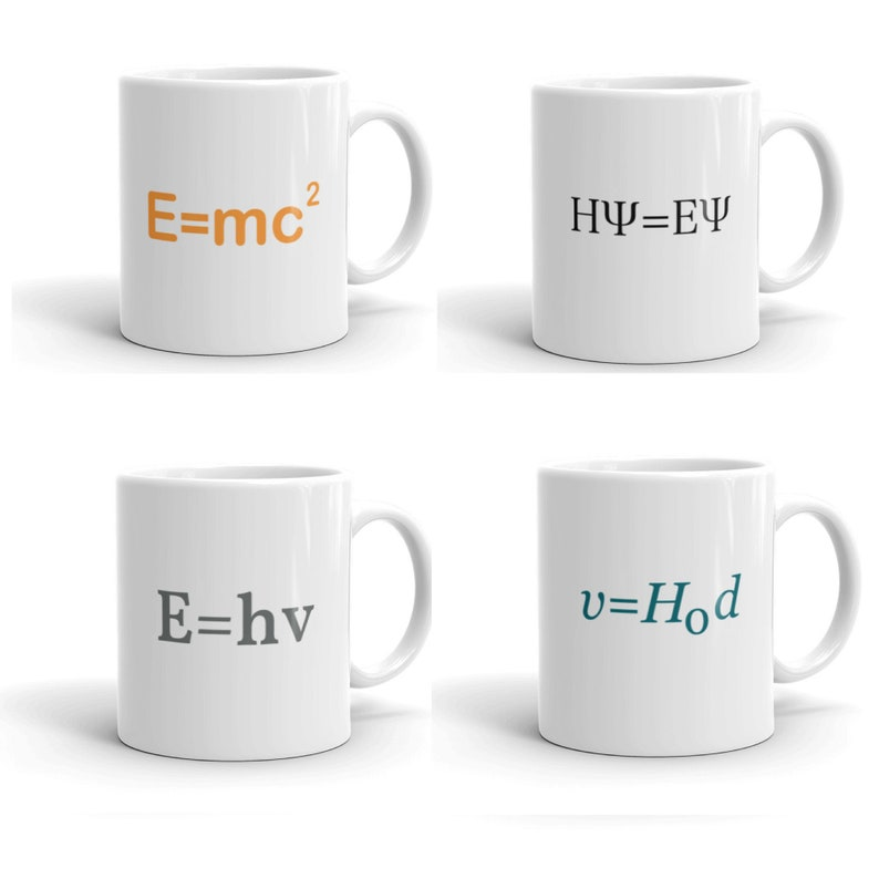 Science Equation Mugs  Choose Your Formula  Planck Equation image 0