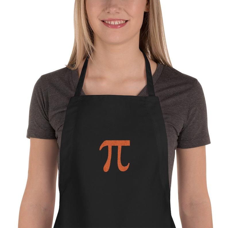 Pi  Mathematic Symbol Embroidered Chef's Apron image 0