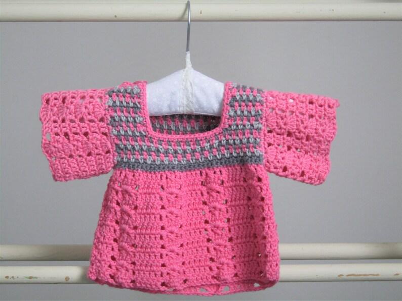 Preemie newborn baby dress  5lb to 7lb approx crochet dress image 0