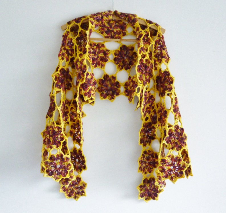 Bohemian shawl  boho wrap  a riot of flowers  completely image 0