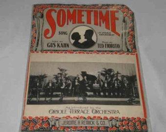 Neat Vintage Ukulele Sheet Music SOMETIME By Gus Kahn