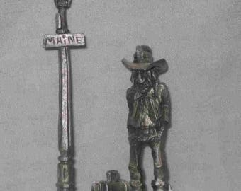 "Great 4"" Boyd Perry Pewter Cowboy Figurine 1st And Maine"