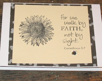 Christian Card with Quote, Blank Inside, 5 X 7