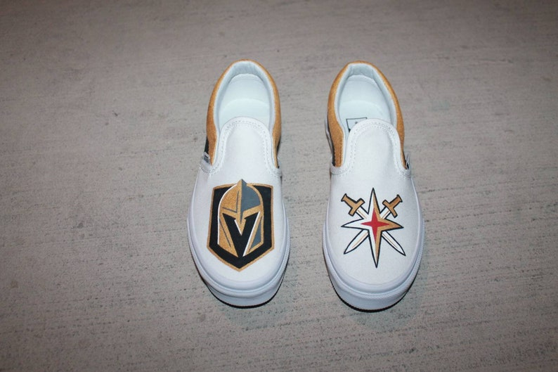 255d91ad8b Vegas Golden Knights custom painted shoes on VANS Adult