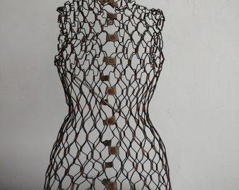 Vintage Wire Dress Form 1950's Sculpture