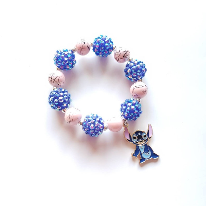 toddler gift ideas kids metal charms disney charms disney beaded bracelet for kids Lilo and stitch bracelet for kids stitch bracelet
