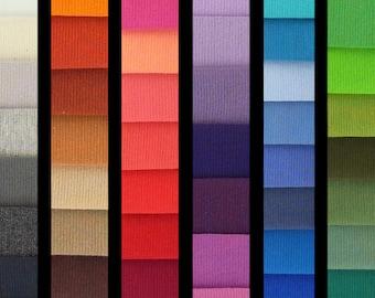 RAINBOW RIBBINGS 1x1 cotton elastane rib knit DIY-Combo, 1 m (1.10 yards)