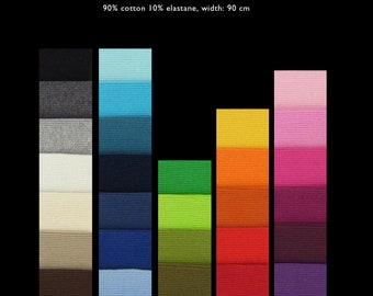 YUMMY RIBBINGS 2x2 cotton elastane rib knit DIY Color Combo, 1 m (1.10 yards)