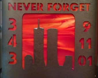 FDNY, 9/11, 9-11, 9-11 Tribute, 9-11 Tribute to Firefighters, 9-11 Lighted Memorial, New York Firefighter Tribute