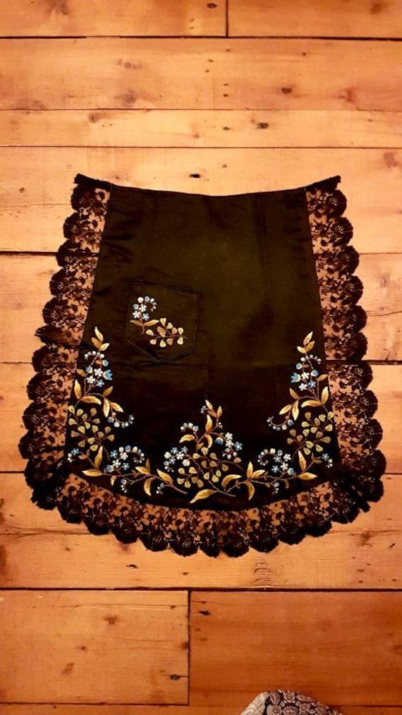 Victorian Silk Apron