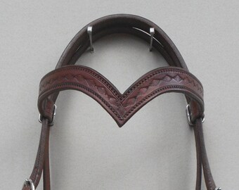 V Brow Headstall with Stampings