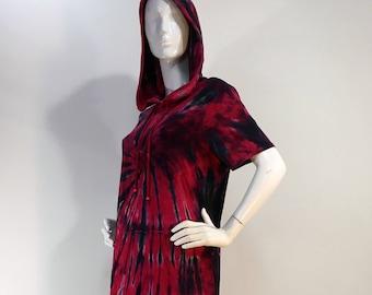 Size L  tie dye hoodie bamboo dress.
