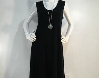 Size M black tank dress in featherweight bamboo blend.