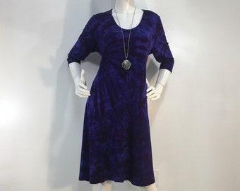 07d1675e0a9 S purple tie dye bamboo dress.