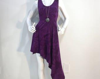 76a64d45f29 M purple tie dye bamboo dress.